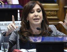 Cristina Kirchner habló durante el dabate en el Senado no solo de la causa, sino de economía, Macri y Brasil. AFP
