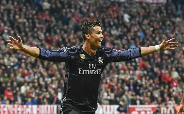 Cristiano anotó un doblete frente al Bayern Múnich en la Liga de Campeones. (Foto Prensa Libre: EFE)