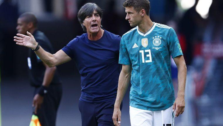 Joachim Löw fracasó en su tercer mundial al mando de la selección de Alemania. (Foto Prensa Libre: AFP)