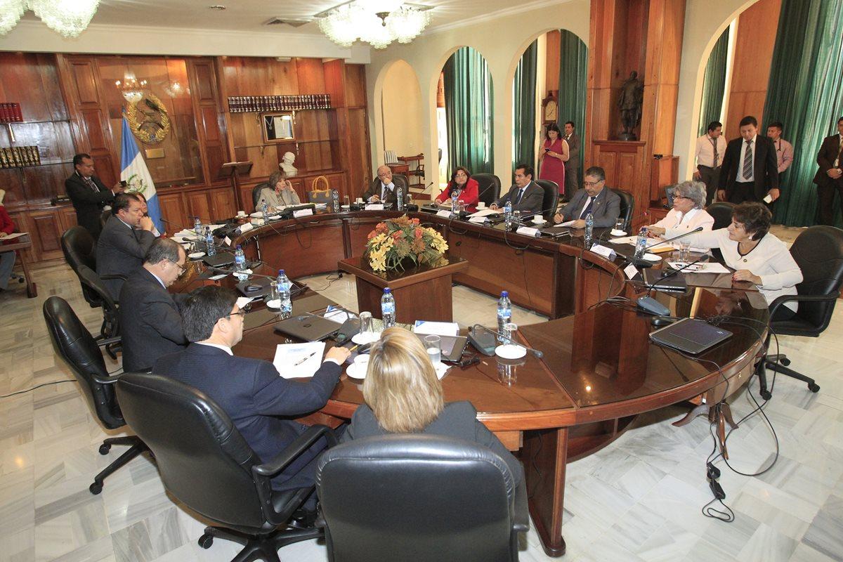 El pleno de magistrados no elegió al presidente de la Corte Suprema de Justicia.(Foto Prensa Libre: Álvaro Interiano)
