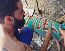 La imagen del arte de Danilo Maldonado, el Sexto, se ha viralizado en redes sociales. (Foto: Twitter).