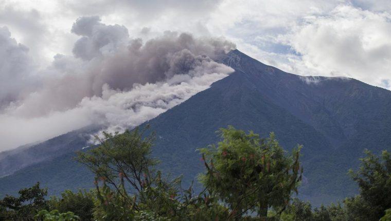 El Volcán de Fuego realizó una violenta erupción el pasado 3 de junio. (Foto Prensa Libre: Insivumeh)