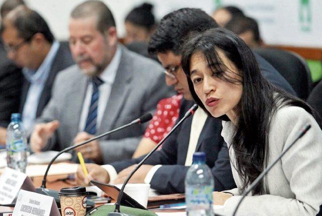 La ministra de Salud Lucrecia Hernández Mack, expuso ayer en la Comisión de Finanzas el requerimiento de gasto para el 2017.