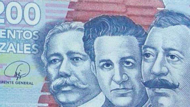 Sebastián Hurtado, Mariano Valverde y Germán Alcántara, son los personajes que aparecen en el billete de Q200. (Foto: Hemeroteca PL)