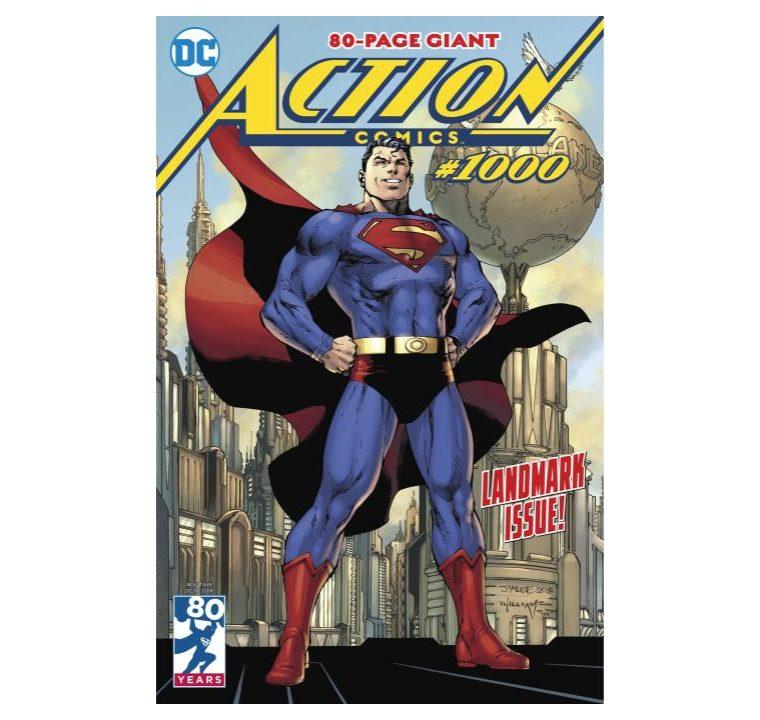 El número 1,000 de Action Comics será de ochenta páginas y festeja los ochenta años de Superman (Foto Prensa Libre: DC).