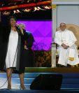 La cantante Aretha Franklin, durante su presentación en el Encuentro de Familias. Filadelfia ofreció un espectáculo de primer nivel para el Papa. (Foto Prensa Libre: AP).