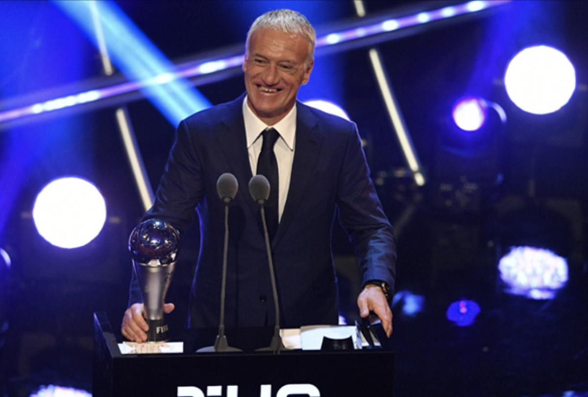 Didier Deschamps elegido mejor entrenador del año en premios de la Fifa