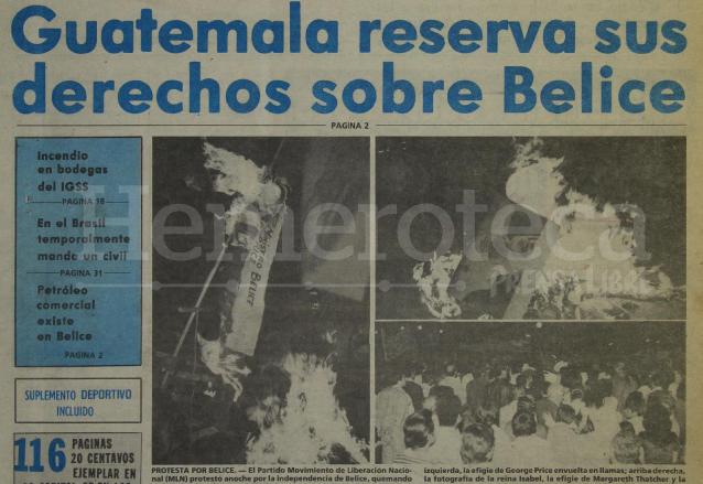 Titular de Prensa Libre del 21/09/1981. (Foto: Hemeroteca PL)