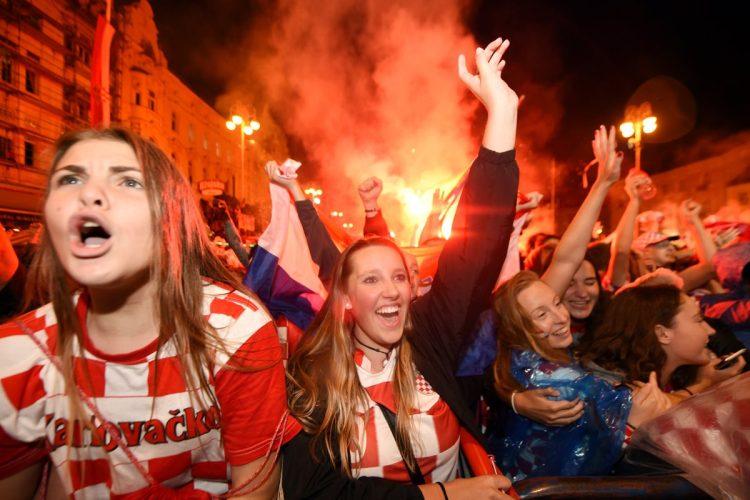 Así celebraron en Croacia el pase a la final de Rusia 2018.