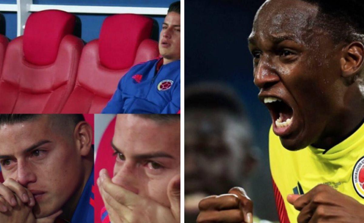 Colombia luchó hasta el final por quedarse con el pase a cuartos de final. (Foto Prensa Libre: Facebook Yerry Mina)
