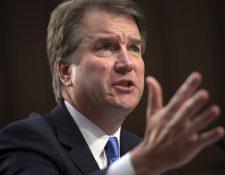 La nominación del juez Brett Kavanaugh por Donald Trump abrió la polémica, porque está acusado de abuso sexual. (Foto Prensa Libre: AFP)