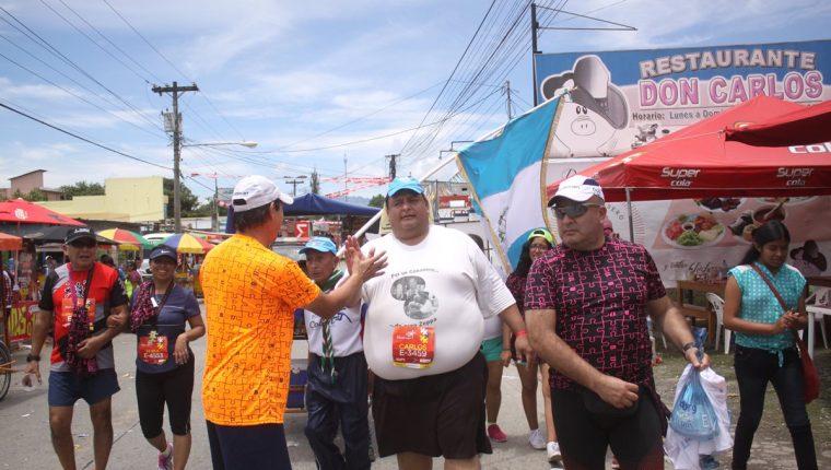 Carlos Ponce fue el último corredor en ingresar a la meta en Cobán. (Foto Prensa Libre: Jesús Cuque)