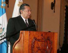 El vicepresidente Alfonso Fuentes Soria, durante una actividad este viernes en el Palacio Nacional de la Cultura. (Foto Prensa Libre: Paulo Raquec)
