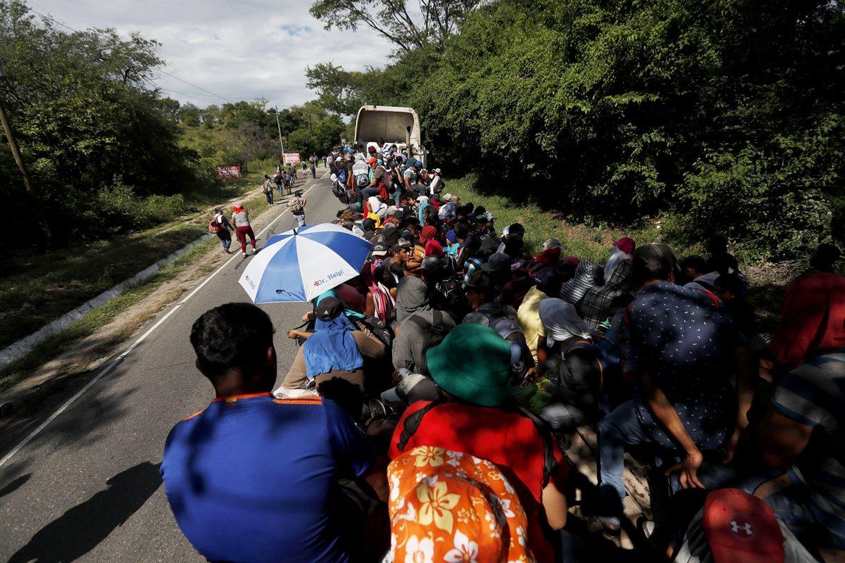 Miles de migrantes hondureños ya atraviesan México. (Foto Prensa Libre: Hemeroteca PL)