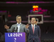 Autoridades del COI elogiaron la candidatura de Los Ángeles para los Juegos Olímpicos de 2024. (Foto Prensa Libre: AFP).