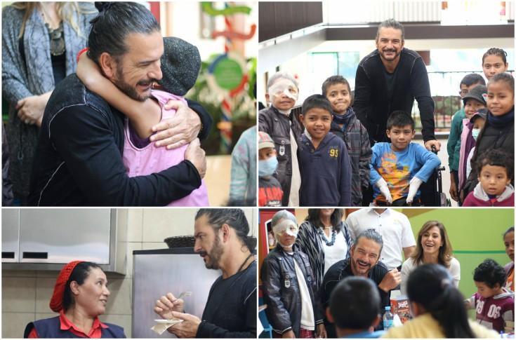 El cantautor guatemalteco visitó el 10 de enero la Casa Ronald MacDonald. (Foto Prensa Libre: Facebook Fundación Infantil Ronald MacDonald)