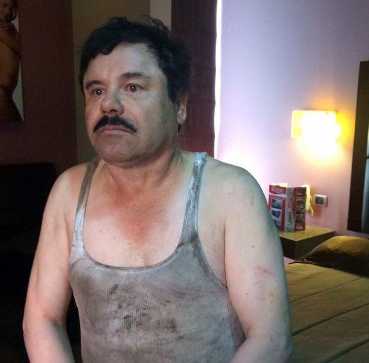 Guzmán Loera el día que fue recapturado, el 8 de enero del 2016. (Foto Prensa Libre: Hemeroteca PL)