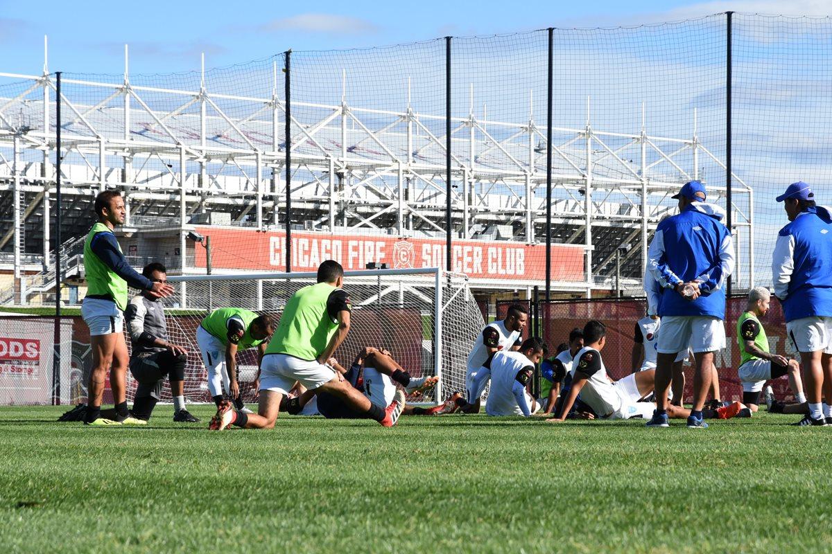 José Manuel Contreras durante el entrenamiento de la Selección Nacional en Chicago. (Foto Prensa Libre: Wilfredo Girón)