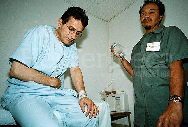 Byron Barrientos fue internado por trastornos en el tubo digestivo en el hospital Bella Aurora. (Foto: Hemeroteca PL)