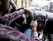 El servicio de Uber empezó a operar en Guatemala a inicios del 2017. A junio reportaba registrados 47 mil usuarios. (Foto, Prensa Libre: Hemeroteca PL)