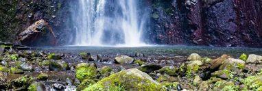 Catarata de La Igualdad en el municipio de San Pablo, es una caída de agua de aproximadamente 200 metros. (Foto Prensa Libre: Cortesía José Corado)
