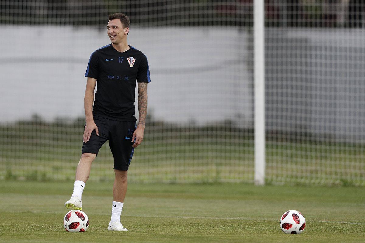 Mario Mandzukic es uno de los jugadores más experimentados de la selecciónd e Croacia. (Foto Prensa Libre: AFP)