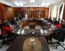 Pleno de magistrados de la CSJ para elegir presidente de ese organismo. (Foto: Paulo Raquec)