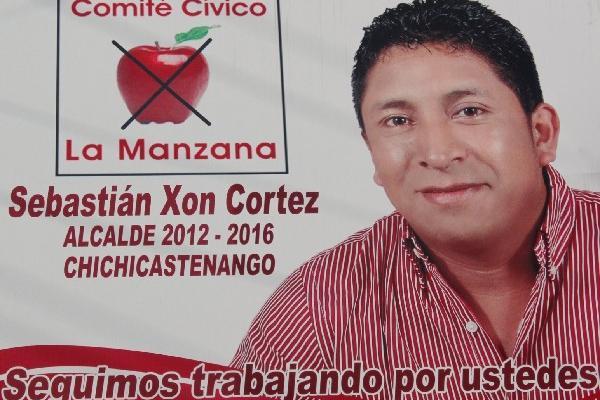 SebastiÁn Xon se promocionó como candidato a alcalde de Chichicastenango,  pero estaba  inscrito como aspirante a concejal primero.