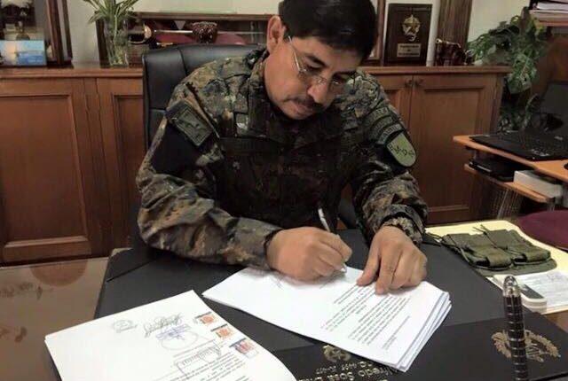 El General Alfredo Sosa Díaz, jefe del Estado Mayor de la Defensa. (Foto Prensa Libre: Facebook)