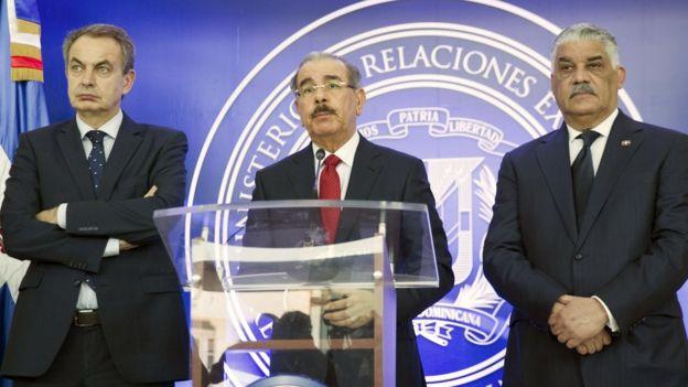 El presidente de República Dominicana, Danilo Medina, lamentó este miércoles el desacuerdo pero instó a las partes a seguir hablando. AFP