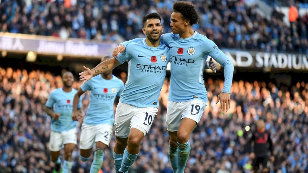 Sergio el Kun Agüero está disponible para jugar el sábado. (Foto Prensa Libre: Manchester City)