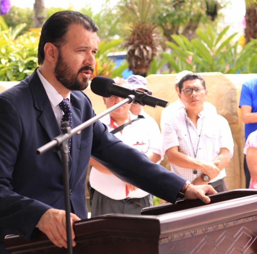 Luis Fernando Molina Aguilar, originario de Esquipulas, Chiquimula, renuncia al cargo de gobernador. (Foto Prensa Libre: Mario Morales)