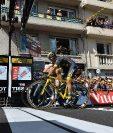 La organización necesito del photo-finish para determinar que el alemán Marcel Kittel fue el ganador de la cuarta etapa. (Foto Prensa Libre: AFP)