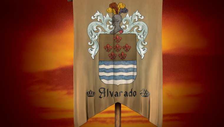 Escudo de la familia Alvarado. Ilustración Prensa Libre: Billy Melgar.