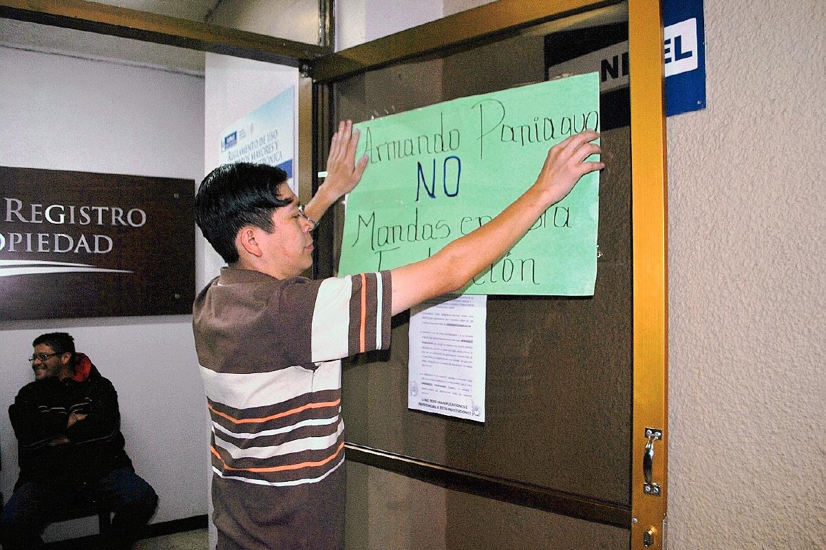 Empleados rechazan injerencia de Paniagua