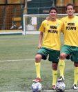 """Los hermanos Joshua y Marbel Aragón disfrutan del futbol y ahora comparten el mismo equipo: Petapa. (Foto Prensa Libre: Edwin Fajardo)<br _mce_bogus=""""1""""/>"""