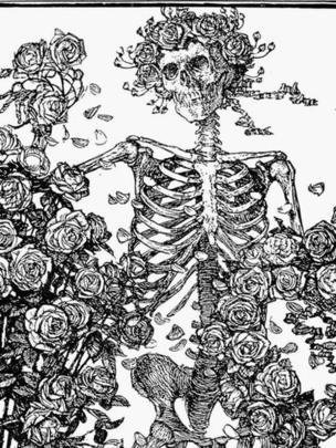 Una de las ilustraciones de Sullivan para un Rubaiyat apareció años después en la cubierta de un disco de los Grateful Dead.