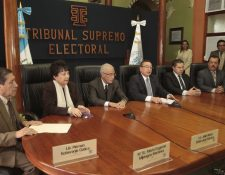 Pleno de magistrados del TSE. (Foto Prensa Libre: Hemeroteca PL)