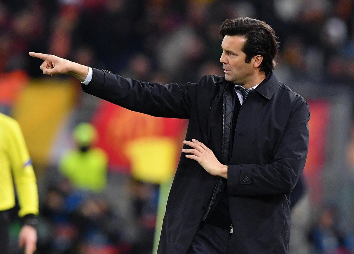 Santiago Solari, técnico del Real Madrid, no contó con Isco en Roma. (Foto Prensa Libre: EFE)