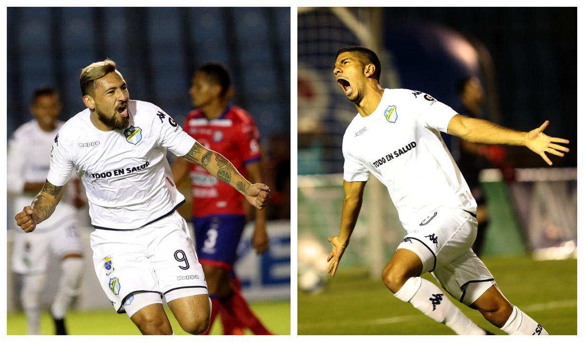 Los jugadores cremas tuvieron una noche soñada y festejaron contra Xelajú. (Foto Prensa Libre: Carlos Vicente)