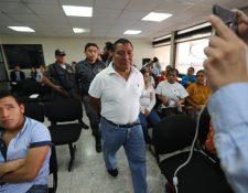 El militar retirado Santos López Alonzo enfrenta debate por la masacre Dos Erres, en 1982. (Foto Prensa Libre: Erick Avila)