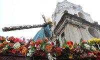 Jesús de la Merced en su procesión de la Reseña recorre las calles de la zona 1 para recordar que él es el Patrón Jurado de la Ciudad de Guatemala. Foto: Paulo Raquec 31/03/2015