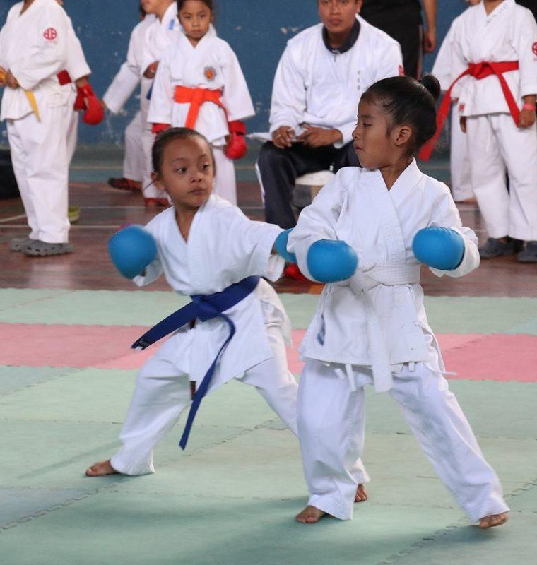 Las artes marciales y los deportes de combates también reciben cientos de niños en las vacaciones. (Foto Prensa Libre: Raúl Juárez)