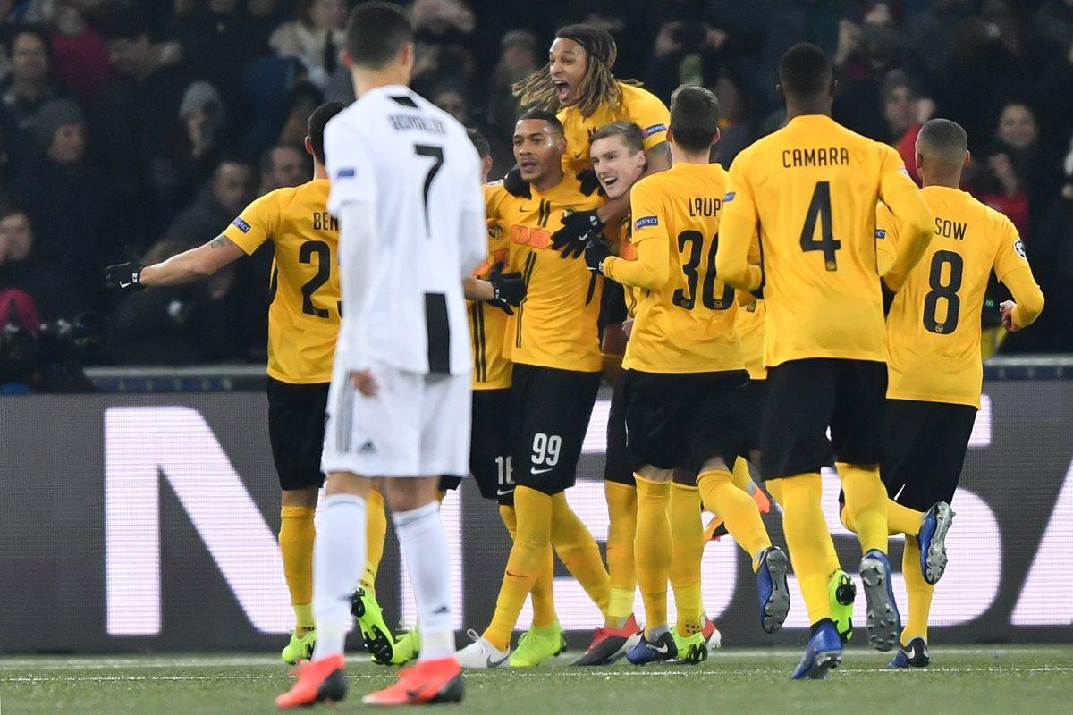 El Young Boys consiguió su primera victoria en Champions League a costa de la Juventus. (Foto Prensa Libre: AFP)