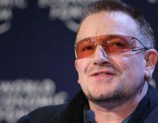 Bono, cantante irlandés, ayudó a fundar en 2004 ONE, una ONG que lucha contra la pobreza. La sede está en Washington, Estados Unidos. (Foto Prensa Libre: AFP).