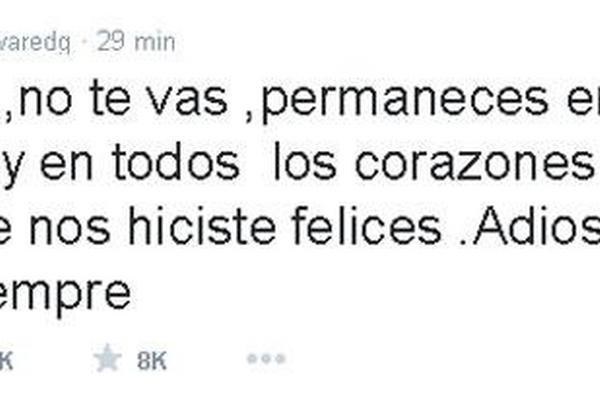 Edgar Vivar, conocido como El señor Barriga, se despide de Chespirito en Twitter