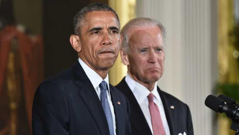 El vicepresidente de Estados Unidos, Joe Biden, junto con Barack Obama.(Foto Prensa Libre: AFP)