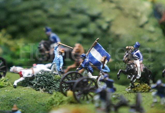 Maqueta que recrea la batalla de La Arada, se encuentra en el Museo de Armas del Ejército. (Foto: Hemeroteca PL)