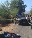 Lugar donde murió baleado Manuel Salvador Villagrán Trujillo, en Zacapa. (Foto Prensa Libre: Víctor Gómez).