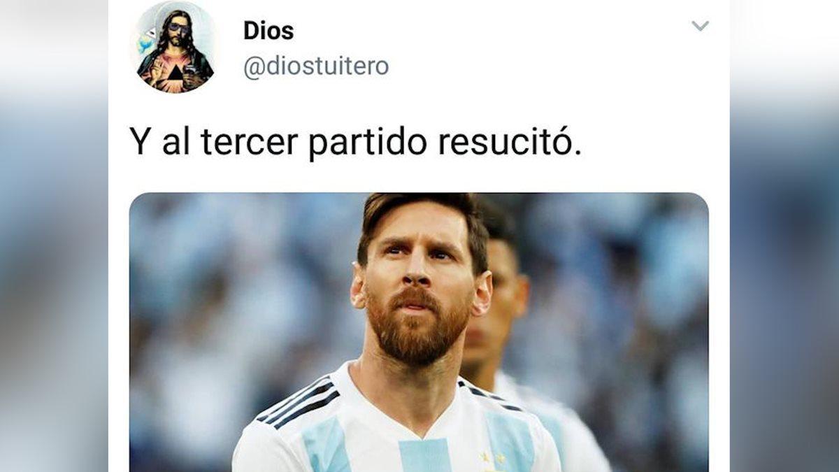 Lionel Messi anotó su primer gol en Rusia 2018 en el tercer partido de la albiceleste en la competencia. (Foto Presna Libre: Redes)